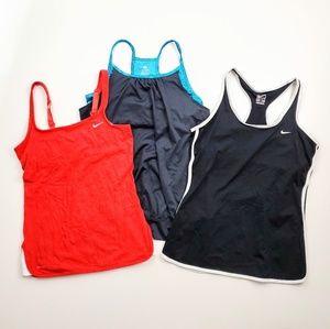 Nike Sports Bra Active Workout Tank Top Bundle